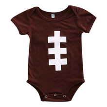 Newborn Baby Boys Rugby Romper Toddler Cotton Blend Jumpsuit Outfit Sunsuit(China)