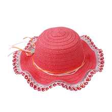 1PC Children's Baby Girl Kids Sun Hat Summer Lovely Fashion Straw Hat Beach Cap for 2-7 Year Toddlers Infants For 3-6Y MU893193