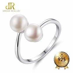 Женское кольцо с жемчугом из серебра 925 пробы