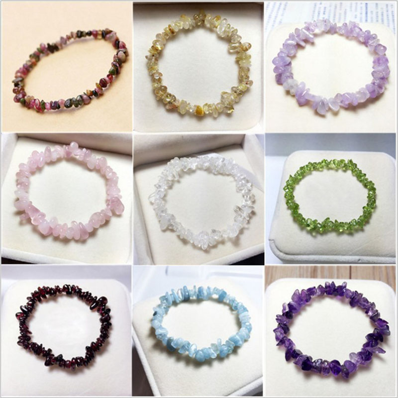Natural quartz crystals tumbled stones Wealthy healing stones bracelet make of tumbled stones (2)