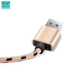Cloudech Nylon Braided nylon braided 8Pin power charger charging date sync transmit line rope wire cord cable for iPhone 5 5s 6