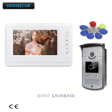"HOMSECUR 7"" Wired Video Security Door Phone Doorbell Intercom Electric Lock Supported For Home Security(China)"