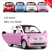 New 1:32 Toy Car Benz Smart Metal Alloy Diecast Car Model Miniature Scale Toy Car Metal Car Model Car Toys For Children