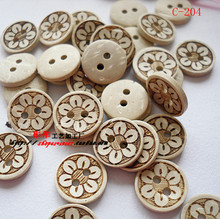 Cartoon coconut button DIY children sweater handmade patchwork clothing accessories embellishment scrapbooking wooden buttons(China)