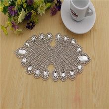 Crystal Rhinestone appliques and trims Bridal beaded lace trims for Wedding dress swarovski crystal stones hotfix rhinestones