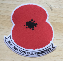 Lextra 1914-2014 England Poppy Patch Soccer Badge