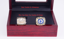 Who Can Beat Our Rings,  High Quality  Super Bowl 1979 1999 Los Angeles RAMS Championship Rings Set  with Wooden Boxes