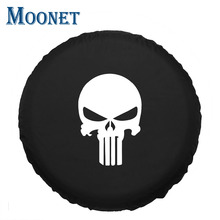"Moonet Spare Tire Waterproof Canvas pattern Cover 15"" 16"" 17"" inch For Car Spare Wheel Cover(China)"