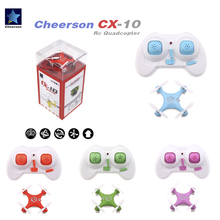 Original Cheerson CX-10 CX10 Mini Drone 2.4G 4CH 6 Axis LED RC Quadcopter Toy Helicopter with LED light Toys for Children(China)