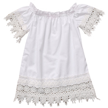 Kids Baby Girls Clothes Dresses Princess Party Lace Top Casual Sundress White Brief Costume Dress Girl New Summer