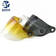 For YOHE  837  Motorcycle len, half face helmet General Visor , transparent black colorful lens, HZYEYO free shipping