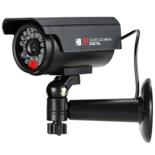 Simulation Fake Dummy Gun Bullet Camera Rainproof Outdoor Solar Powered with LED Light For House Office Market Security System