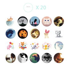 38pcs/set Cute Cat Sticker Anime Stickers Cartoon Animal Cat Sticker For Notebook/Laptop Cake Decoration Gift For Children