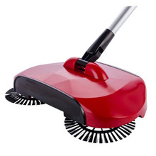 Red Mop broom 360 Rotary Home Use Magic Manual Telescopic Floor Dust Sweeper With adjustable handle Easy transaction
