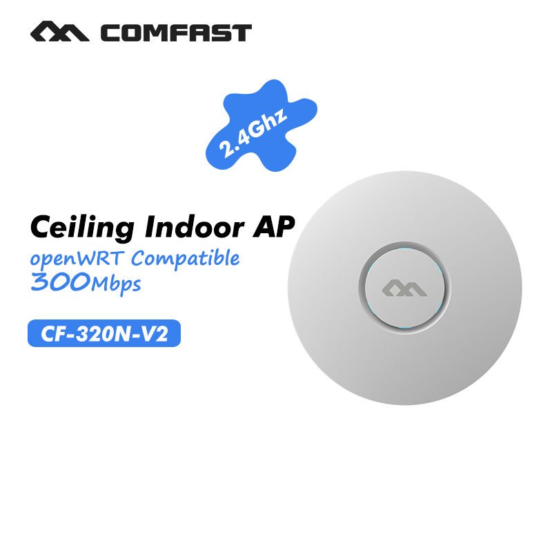 Wireless ceiling AP wireless indoor AP wifi router 300Mbps 2.4Ghz business use marketing system AP openWRT COMFAST CF-E320N-V2(China (Mainland))