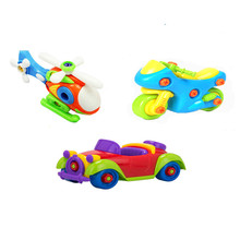 3pcs/set DIY toy Removable toy baby early education Motorized vehicle airplane 3 combination of equipment Develop intelligence(China)