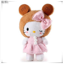 big size 50 cm hello kitty stuffed toy with lovely hat. free shipping