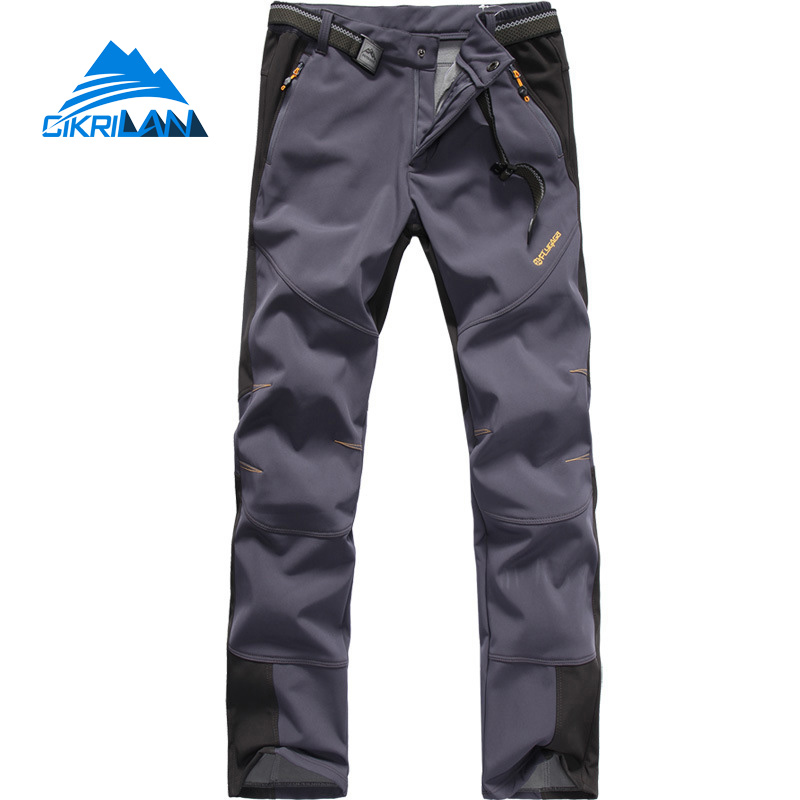 New mens Softshell Leisure Sport Outdoor Trekking Hiking Pants Men Climbing Ski Camping Trousers Windstopper Pantalones Hombre<br>