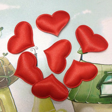 1000 3.2*2.5cm Fabric Heart Vintage Wedding Decor Huwelijk Table Decoration Valentines Day Accessories(China)