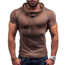 Buy New mens t shirts fashion Tops Tees Summer Cotton O Neck Short Sleeve T Shirt Men Fashion Solid Hooded Slim T Shirts Mens for $12.90 in AliExpress store