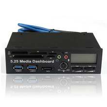High Speed All-in-1 5.25Inch USB 3.0  Media Dashboard Front Panel PC Multi Card Reader supports CF / TF / M2/ SD / XD / MS / MMC