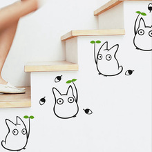 Totoro wall sticker kids bedroom decor Japanese cartoon animation wall decals