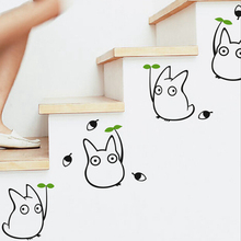 Totoro wall sticker kids bedroom decor Japanese cartoon animation wall decals(China)