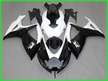 New bodywork hot sale fairngs for suzuki gsxr 600 750 2006 2007 white black injection molded fairing kit gsxr750 06 07 nv146(China)