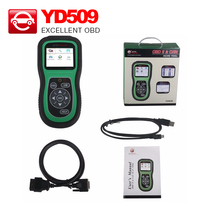 Professional YD509 OBDII EOBD CAN Auto Code Reader Scanner with Multi-languages YD509 obd2 diagnostic tool DHL free Shipping