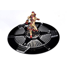 "1/12 Scale 6"" Iron Man Crystal Round Stand Display Collection ModelS"