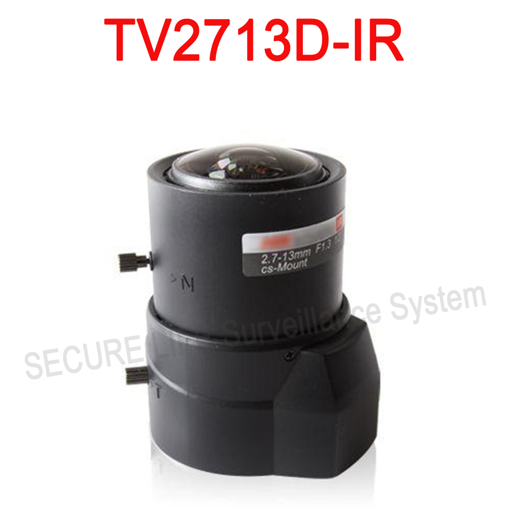 Hik cctv camera lens TV2713D-IR Vari-focal DC Auto Iris IR Asperical Lens 2.7-13mm<br>