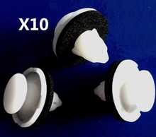 10x Nylon For Honda Civic Hood Prop Rod Grommet Clip 89 - on 91604-SD2-013