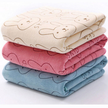 Rabbit Microfiber Baby Baby Infant Newborn Washcloth Kids Beach Bath Towel For Bathing Swimming Absorbent Drying(China)