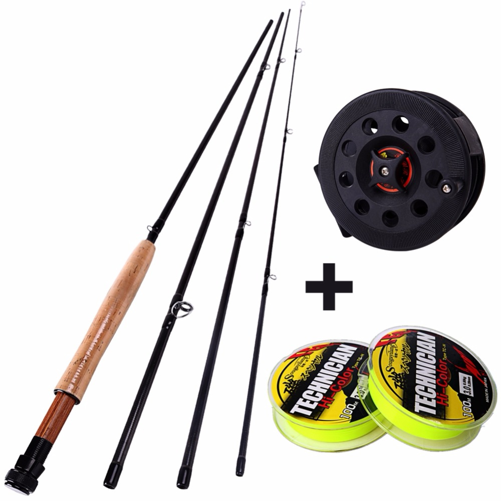 2.7m 4 SEC Fly Fishing Rod With Spinning Reel Good Fishing Rod Kit Fishing Line Carp Fishing Accessories<br><br>Aliexpress
