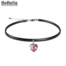 BeBella no allerg heart pendant choker necklace made with Crystals from Crystals from Swarovski for women 2017 women's gift