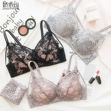 Buy JYF Brand Fine Embroidery Hollow Sexy Lace Women Bra Set Triangle Cup Push Gather Underwear High Quality Bra Panty Sets