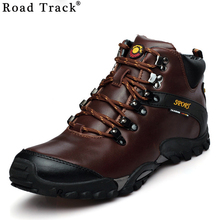 Road Track 2017 Men Snow Boots Waterproof Men Footwear Winter Ankle Boots Fur Breathable Men Winter Shoes 5 Colors XMF0200-4(China)