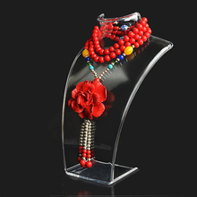 Jewelry Display Bust Clear Acrylic Mannequin Jewelry Holder Earring Necklace Display Stand 10PCS/SET
