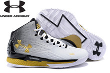 Hot Sale Under Armour Curry V1 Basketball Shoes,High Quality Men's Sports Shoes Sneakers Under Armour Men's Medium Cut Shoes(China)