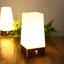 Table Lamp Night Light New Design Warm White NightLight Battery Operated with Motion Sensor Square Energy Class A+ for Deco