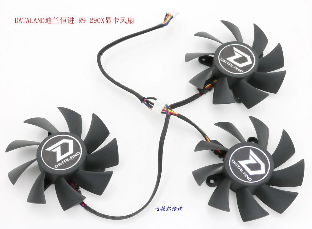 New Original Power Logic PLA08015D12HH 12V 0.35A for DATALAND PowerColor R9 290 / 290X a drag three graphics card fan<br>