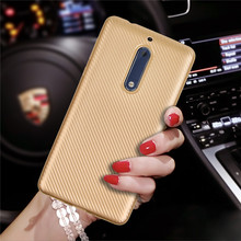 Luxury Carbon Fiber Capa For Nokia 5 Cases Silicone Rubber Back Shell Ultra Thin Mobile Phone Bags For Coque Nokia 5 Accessories(China)