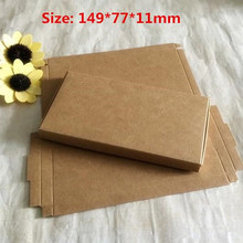 50pcs/lot 14.9*7.7*1.1cm cute small Kraft paper packing carton Exquisite box Boutique boxes Aircraft box