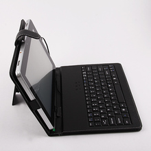 "Micro USB Keyboard Leather Cover Case  for 10"" 10.1"" Tablet PC MID PDA Free Shipping + Drop Shipping"
