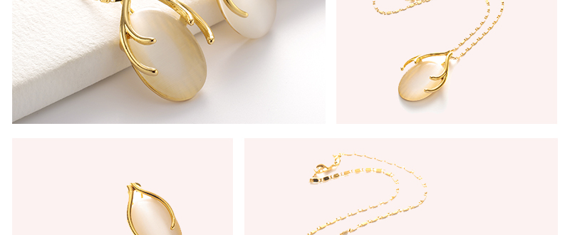 AYAYOO Opal African Beads Jewelry Set For Women Wedding Yellow Gold Color Statement Necklace Set Indian Bridal Jewelry Sets (2)