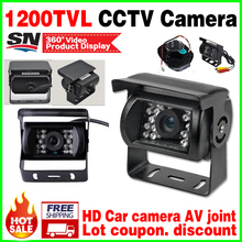 Car Special Bus Reversing Camera AV Joint 1/4cmos 1200TVL Waterproof IP66 Night Vision 30m Rear view Security Surveillance video(China)