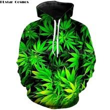 PLstar Cosmos Brand Hoodies green Weeds Print 3d Sweatshirt Men Women Hoody 2018 autumn casual hoodies Drop shipping