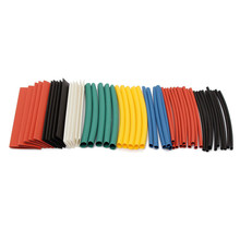 50pcs 90mm Polyolefin 2:1 Halogen-Free Heat Shrink Tube Sleeving Kit 8 Sizes Cable Sleeve Wrap Wire Kit Electric Tubings