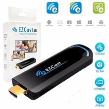 EZCast 5Ghz WiFi HDMI Display Dongle Google Chrome cast DLNA Miracast AirPlay receiver ios windows android tv stick(China)