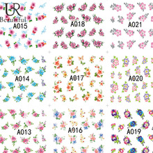 48Sheets Beauty Flower Pattern Nail Art Water Transfer Stickers Decals DIY tips Decoration Fashion Nail Art Tattoo BEA001-048(China)